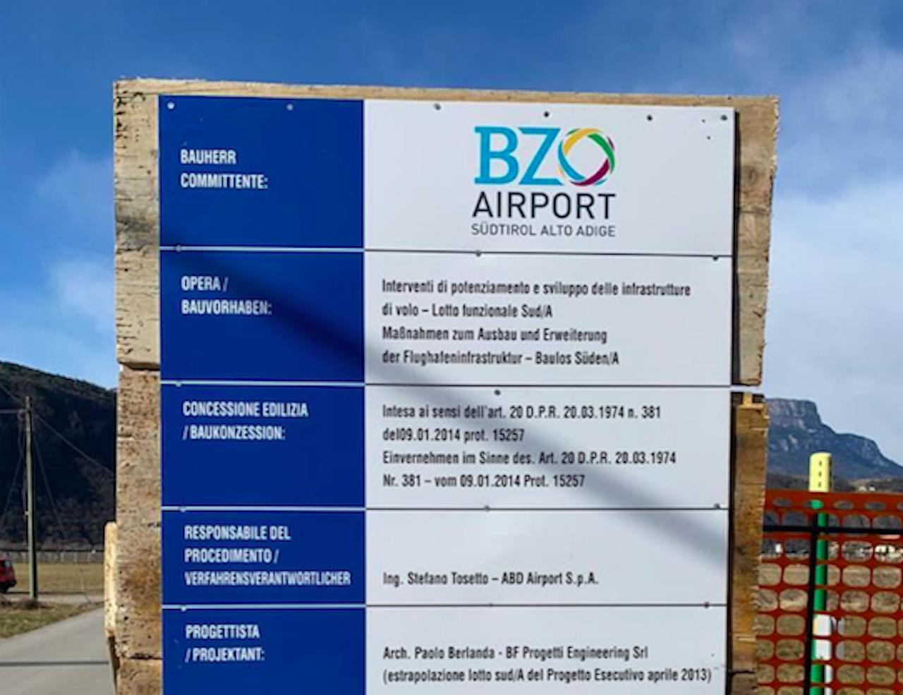 cantiere ampliamento aeroporto di bolzano