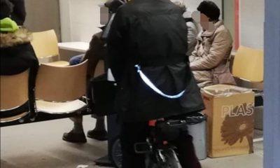 in bici al distretto sanitario di bolzano