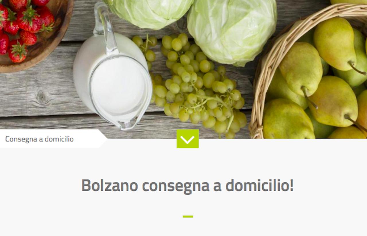 """""""Bolzanoconsegnaadomicilio"""": una pagina dedicata sul sito ..."""
